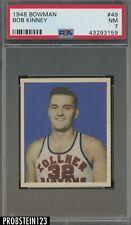 1948 Bowman Basketball #49 Bob Kinney Pistons PSA 7 NM