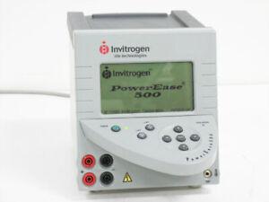 INVITROGEN LIFE TECHNOLOGIES POWEREASE 500 ELECTROPHORESIS POWER SUPPLY