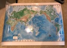 World Maps - 2 - Laminated - Advanced Physical & Advanced Political 3ft x 4ft