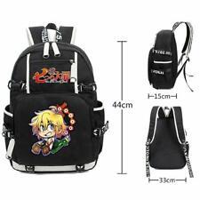 Anime Men Backpack The Seven Deadly Sins School Laptop Bag Packsack Rucksack Bag
