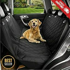 Dog Car Seat Cover for Cars/Trucks/Suv's Waterproof Hammock Back Seat Cover Belt