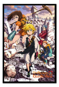 Seven Deadly Sins Manga Key Art 2 MAGNETIC NOTICE BOARD Inc Magnets | UK Seller