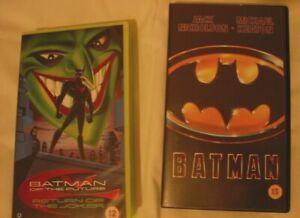 "Batman (used) & Batman of the Future ""Return of the Joker"" (Sealed)  VHS Videos"