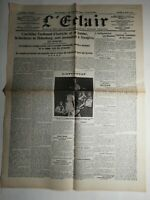 N431 La Une Du Journal  L'éclair 29 juin 1914 l'archiduc Ferdinand d'Autriche