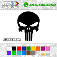 ADESIVO 42x58cm THE PUNISHER stickers AUTO US ARMY JEEP FUORISTRADA 4X4