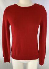 Women's Lauren Ralph Lauren Red 100% Cashmere Crew Neck Pullover Sweater Small