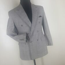 Boys Vintage Polo By Ralph Lauren U.S.A. Double Breasted Wool Suit 20 Reg