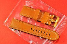 """Jacques Lemans""  24 мм  Original  Beige&Gold tone bukle leather watch band"