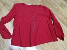 Mango Blouse EUR M Red Detachable chain
