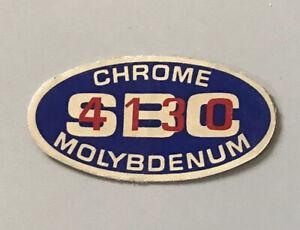The Sting Chrome MolyBdenum SBC 4130 original NOS sticker Schwinn BMX decal