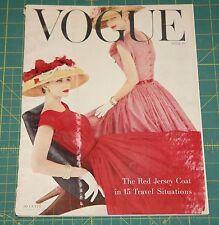 April Vogue 1956 Rare Vintage Vanity Fair Fashion Design Collection Magazine