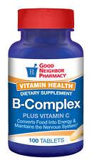 GNP Vitamin B-Complex + C Supplement 100 tablets