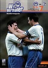 BL 2000/01 Hertha BSC - Schalke 04, 18.11.2000 - Poster Ali Daei