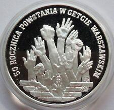 300000 ZL ZLOTYCH POLAND POLEN 1993 Warsaw Ghetto Uprising 1 oz silver
