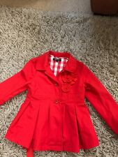 DKNY Girls red jacket 5 yrs