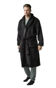 HEAT HOLDERS Thermal Blackwood Dressing Gown Mens Sizes