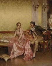 Charles Joseph Frederic Soulacroix The Conversation Canvas Print 16 x 20 #4525