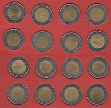 Moneta 500 lire  n. 8 belle monete anni diversi