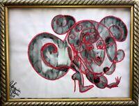 ORIGINAL Malerei PAINTING erotic EROTIK akt nu art Hexe Esoterik dark gothic psy