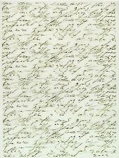 Printed Translucent / Vellum Scrapbook  Paper A/4 Writing 2