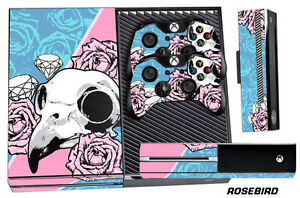 Skin for XBOX ONE 1 Console 2 Controller Graphics Sticker Wraps Decal ROSEBIRD