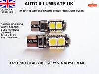 T10 501 W5W LED CAR WHITE LIGHT BULBS  ERROR FREE CANBUS INTERIOR BOOT ROOF 12V