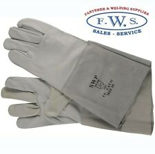 TIG WELDING GLOVES GREY GAUNTLET WELDING