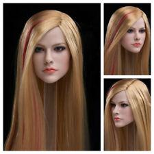 "Cabeza esculpida de 1/6 JXTOYS Avril Tallado Modelo F 12"" figura femenina cuerpo JX-028"