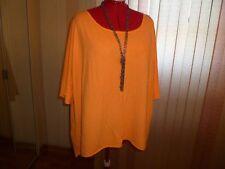 NWT CPM collection boxy top/tunic short drop sleeves Hi-Low hem Apricot szUS22W