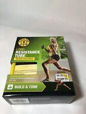 Golds Gym Long Resistance Tube - Medium Resistance Build Strength & Tone