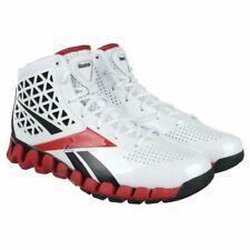 REEBOK ZIG SLASH ZIGTECH BASKETBALL TRAINERS, UK9, WHITE/RED/BLACK, 4-V49613