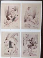 Erotik Comic Strip 2 von Rojan, kolorierte Lithographie auf feinem Strohpapier
