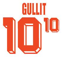 Holland Gullit Nameset 1992 Shirt Soccer Number Letter Heat Print Football A