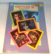 ✰ 1990 Gremlins 2 The New Batch Movie Giant Sticker Book Unused NEW