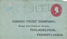 "1910 Philadelphia, Pennsylvania Station ""Z"" Flag Cancel on Cover ~"