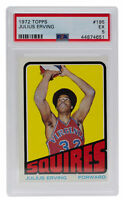 Julius Erving Virginia Squires 1972 Topps #195 Card EX 5 PSA 651