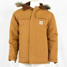 Mint! Vintage Carhartt Canvas Coat Mens XL 48 Removable Hood Quilted Lining