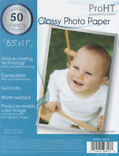 Glossy Photo Paper 8.5x11 50 Sheets for InkJet Printers with FREE Delivery