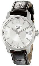 Tissot T0554101603700 PRC200 Date Silver Dial Date Men's Brown Leather Watch