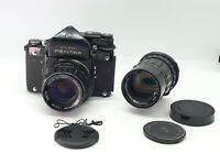 PENTAX 6X7 TTL Mirror up w/ SMCT 105mm f2.4 w/ SMTC 200mm F4 from JAPAN