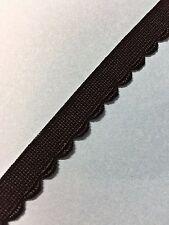 10 métres galon festonné lingerie ruban dentelle élastique  Ruché   1cm   lot 12