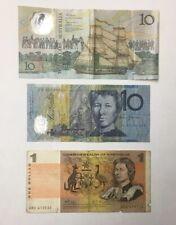 New Listing$21 Face Australia Paper Money Note Lot $10 $1 Vintage P4