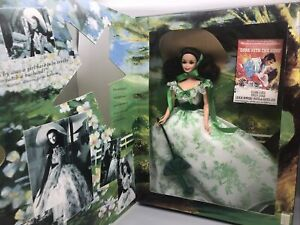 Vintage Barbie as Scarlett O'Hara Hollywood Legends Collection Green/white Dress