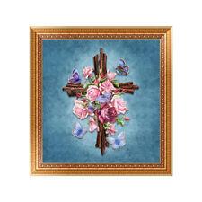 Ep_ Diy Cross Flowers Butterfly Diamond Painting Embroidery Art Home Decor Goodi