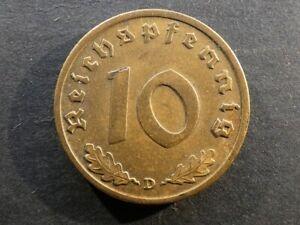 Germany, 10 Reichspfennig, 1939D.