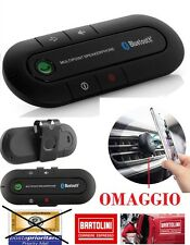 KIT AUTO BLUETOOTH CAR UNIVERSALE SMARTPHONE TABLET VIVAVOCE WIRELESS MULTIPOINT