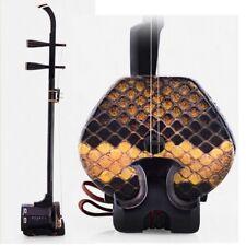 ERHU Chinese 2-string Violin Fiddle Macassar ebony wood Black Sandalwood #066