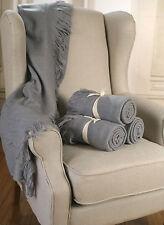 Throw Rug Soft Touch Throw Blanket Decorative Bedding Blanket 127x150cms - GREY