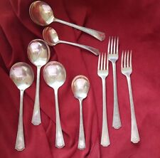 """Antique National Silver Company EPNS """"Adam"""" Silverplate Lot of 9 pieces"""