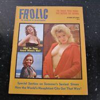 FROLIC October 1964~Vol.13 #3~Men's Pin-Up Magazine Vintage Playboy~B&W / Color